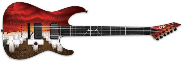 Guitarra ESP modelo Master of Puppets do Metallica